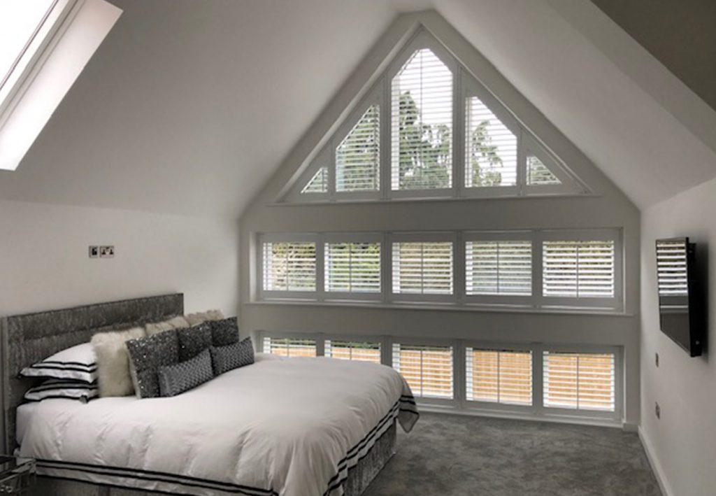 Loft conversion wth triangular window shutters x 1